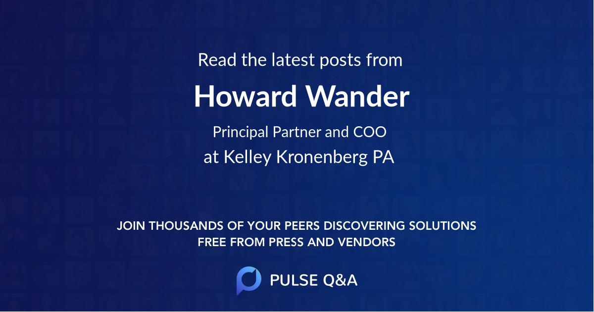 Howard Wander