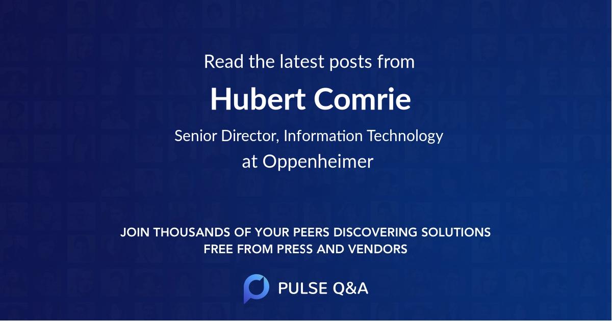 Hubert Comrie