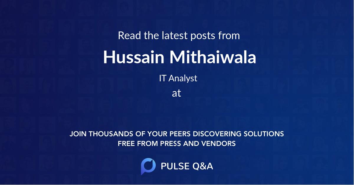 Hussain Mithaiwala