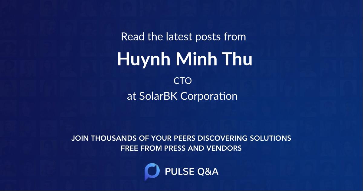Huynh Minh Thu