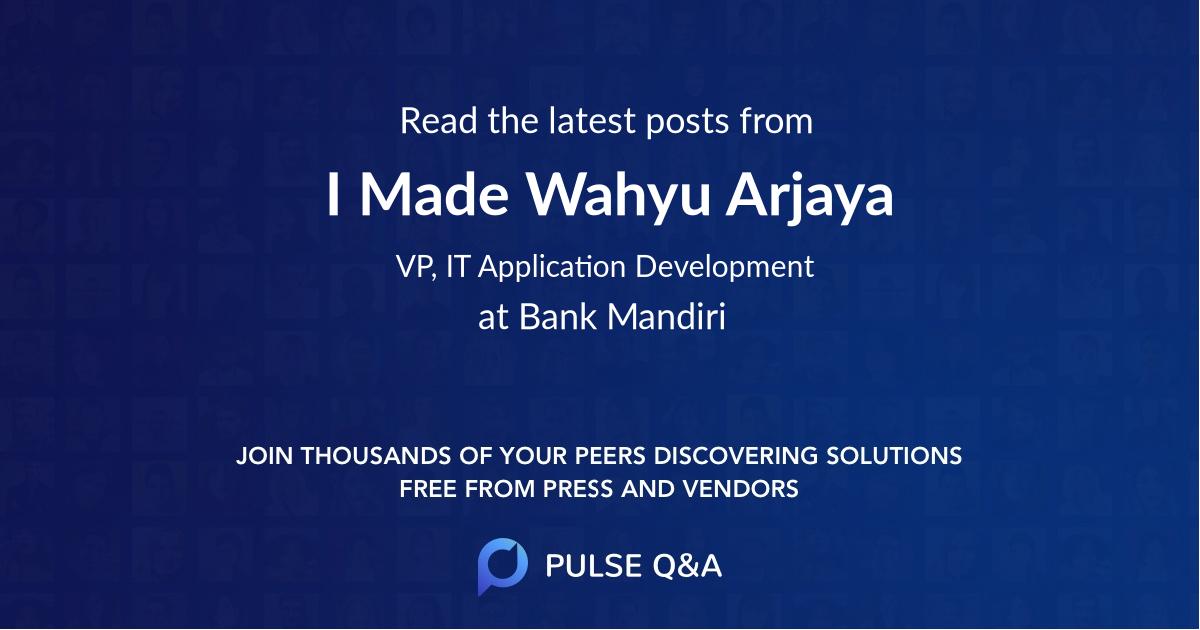 I Made Wahyu Arjaya