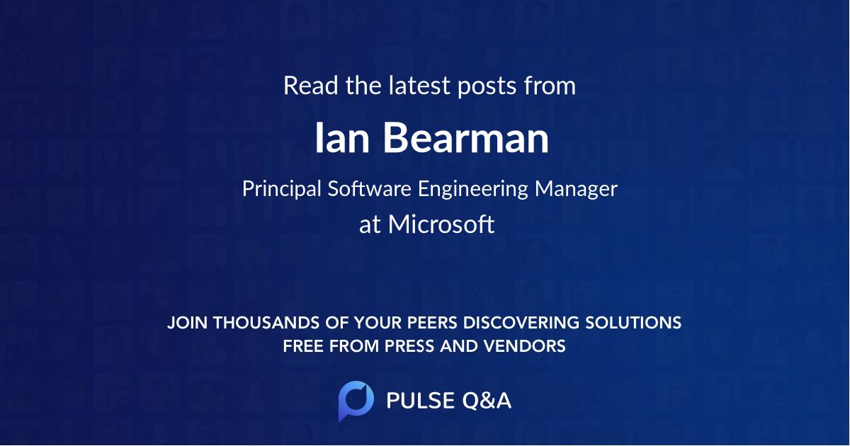 Ian Bearman