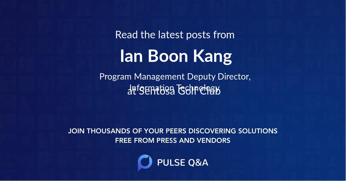 Ian Boon Kang