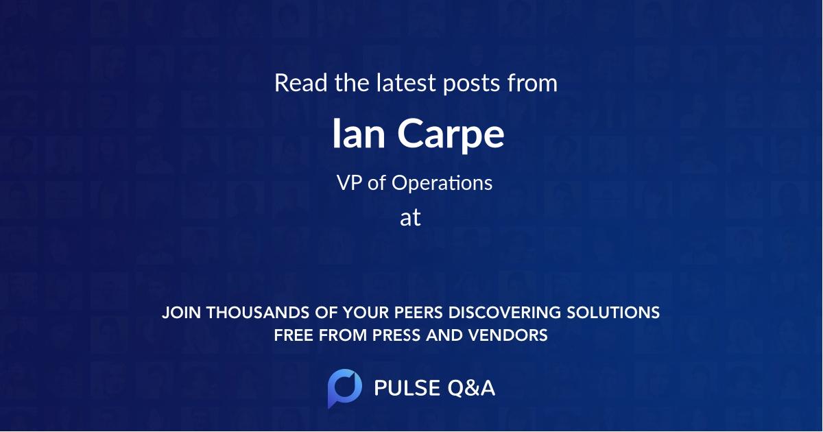 Ian Carpe