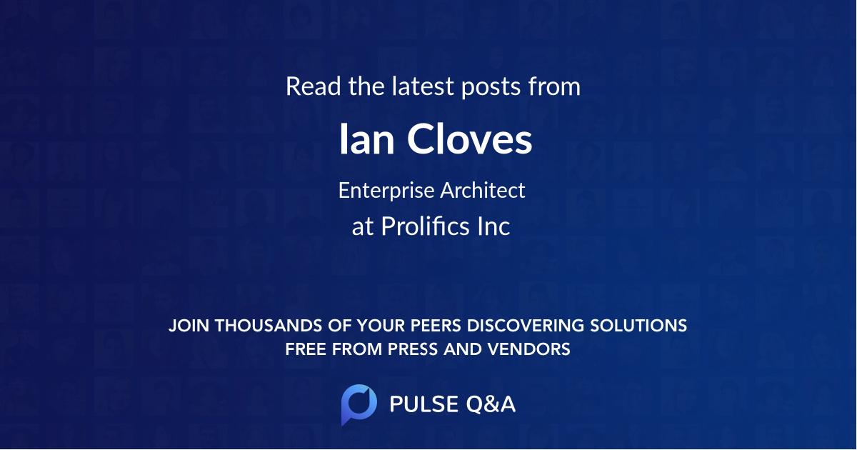 Ian Cloves
