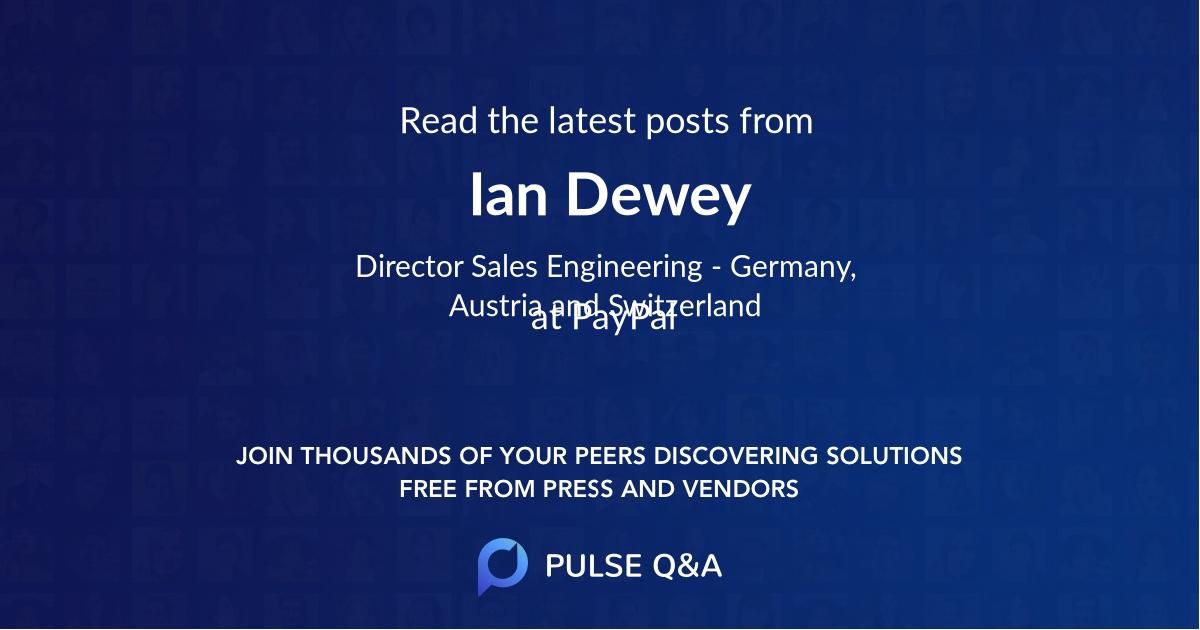 Ian Dewey
