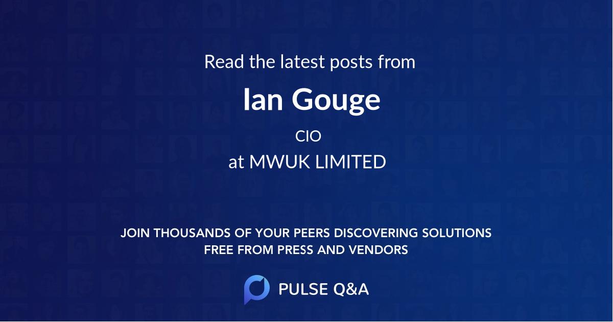 Ian Gouge
