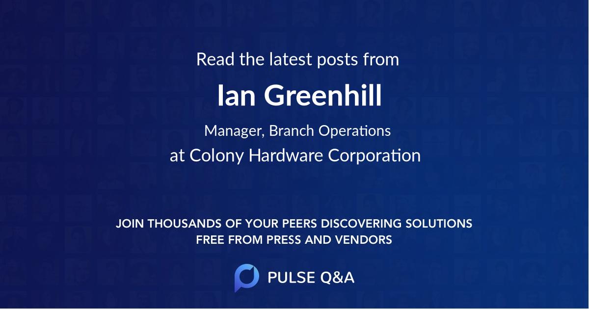 Ian Greenhill