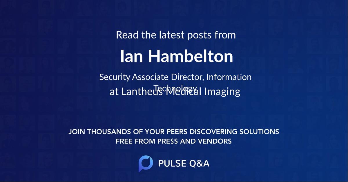 Ian Hambelton