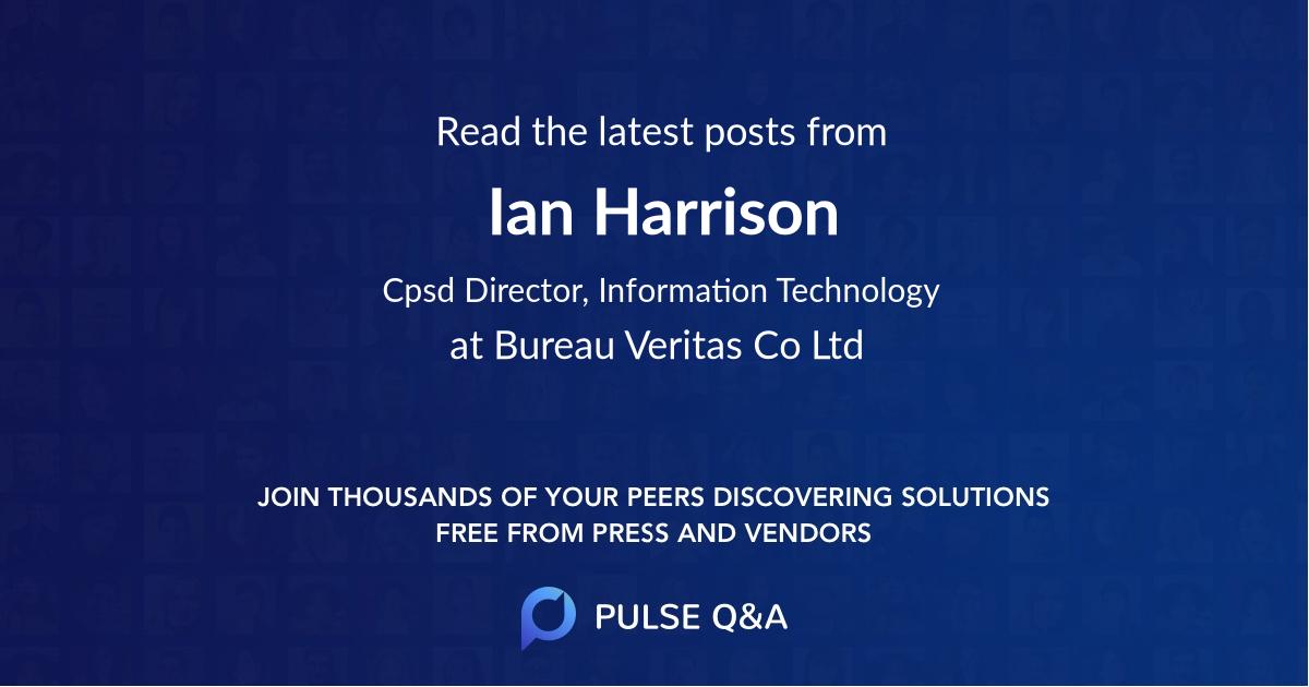 Ian Harrison