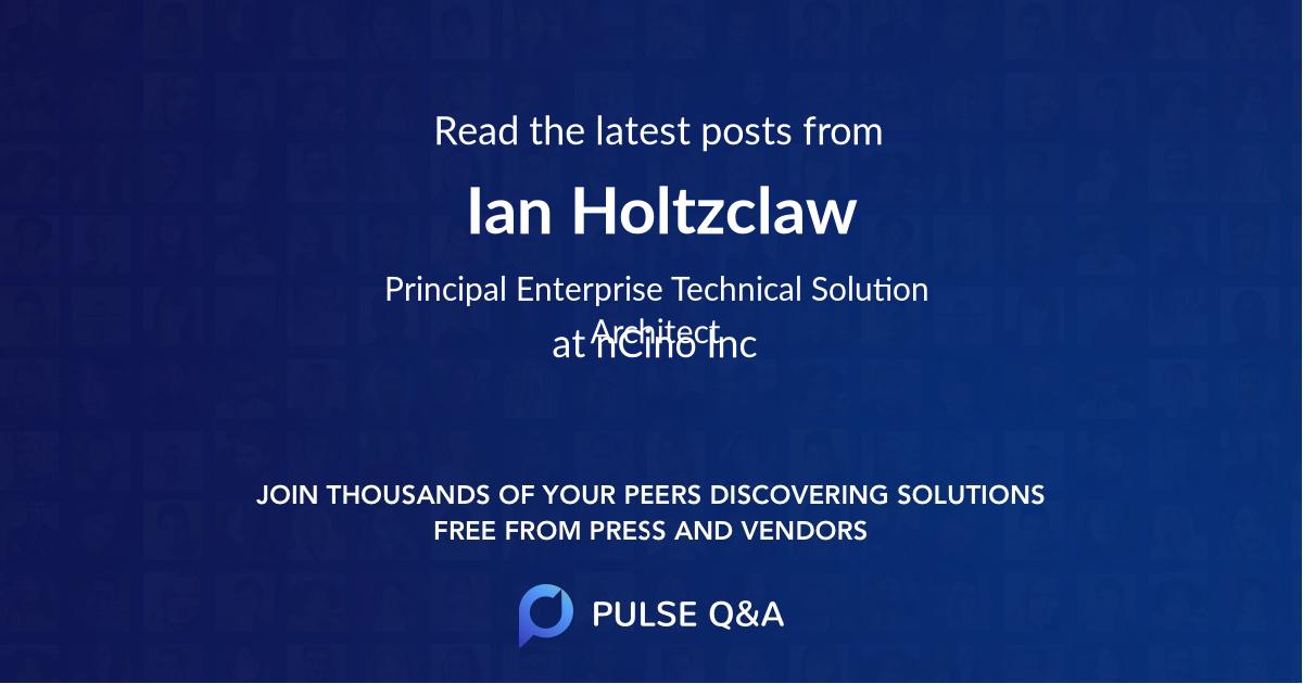 Ian Holtzclaw