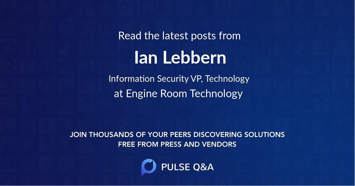 Ian Lebbern
