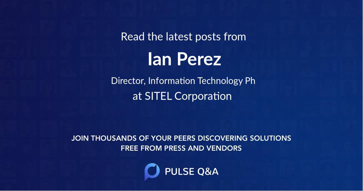 Ian Perez