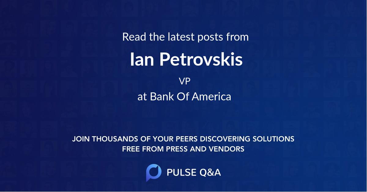 Ian Petrovskis