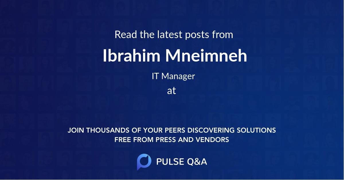 Ibrahim Mneimneh