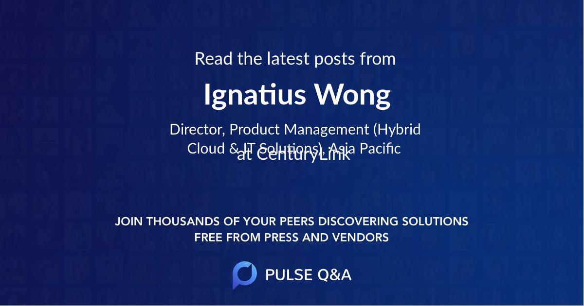 Ignatius Wong