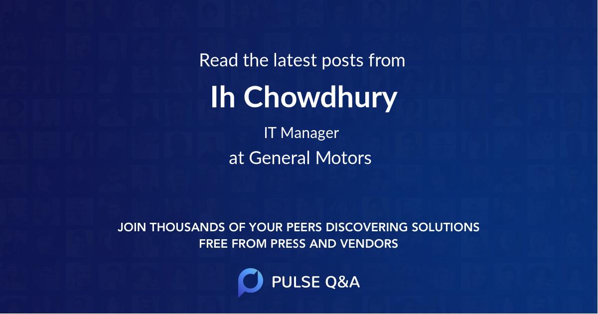 Ih Chowdhury