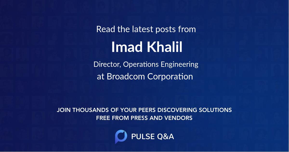 Imad Khalil