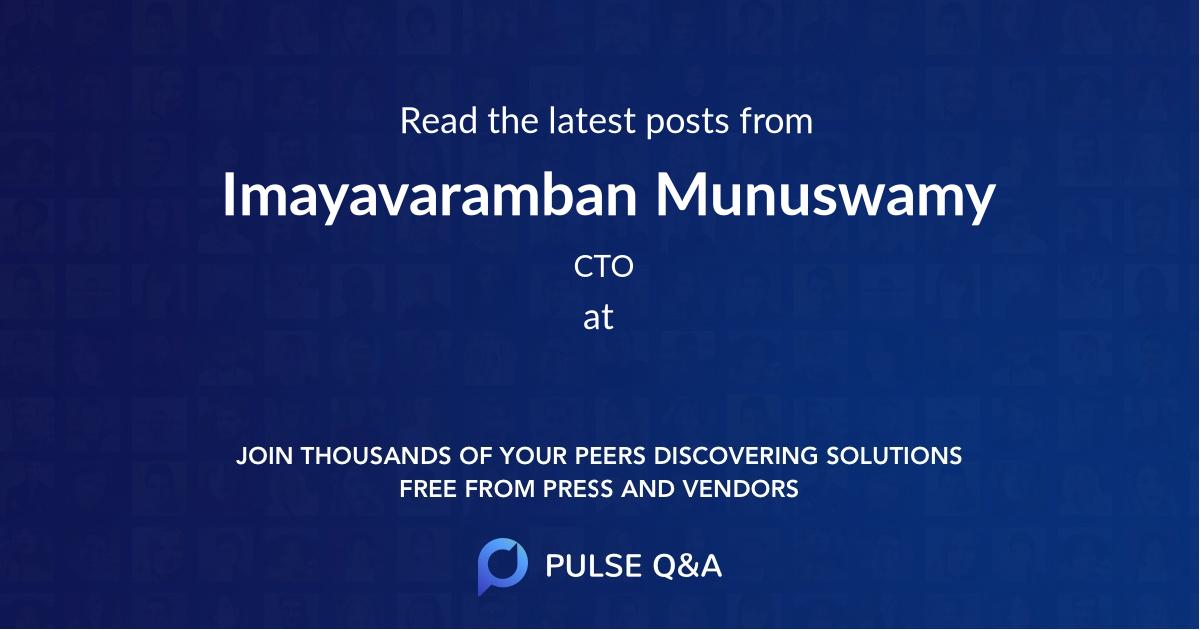 Imayavaramban Munuswamy