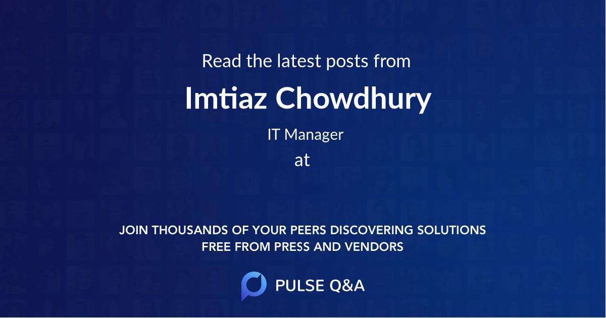 Imtiaz Chowdhury