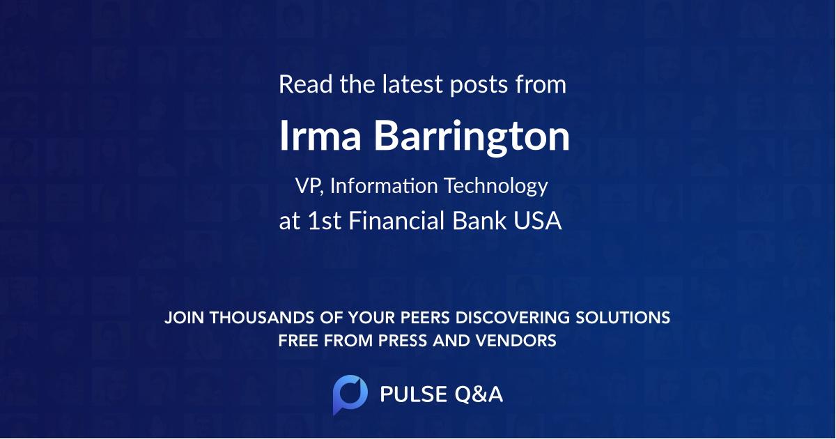 Irma Barrington