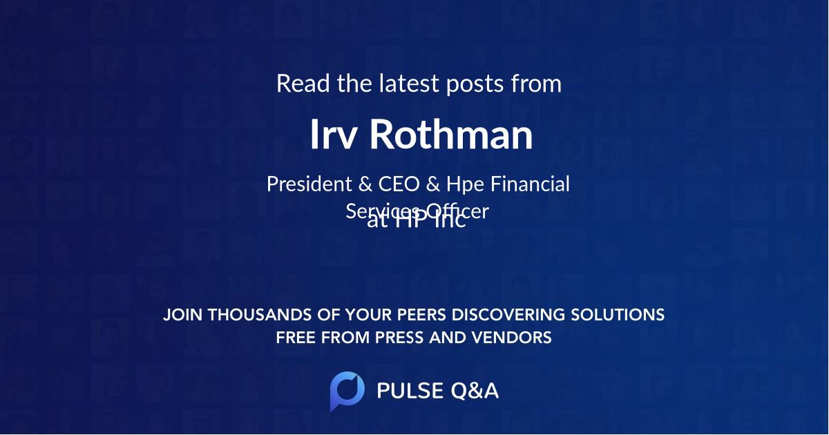 Irv Rothman