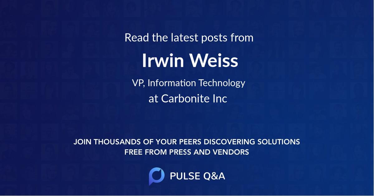 Irwin Weiss