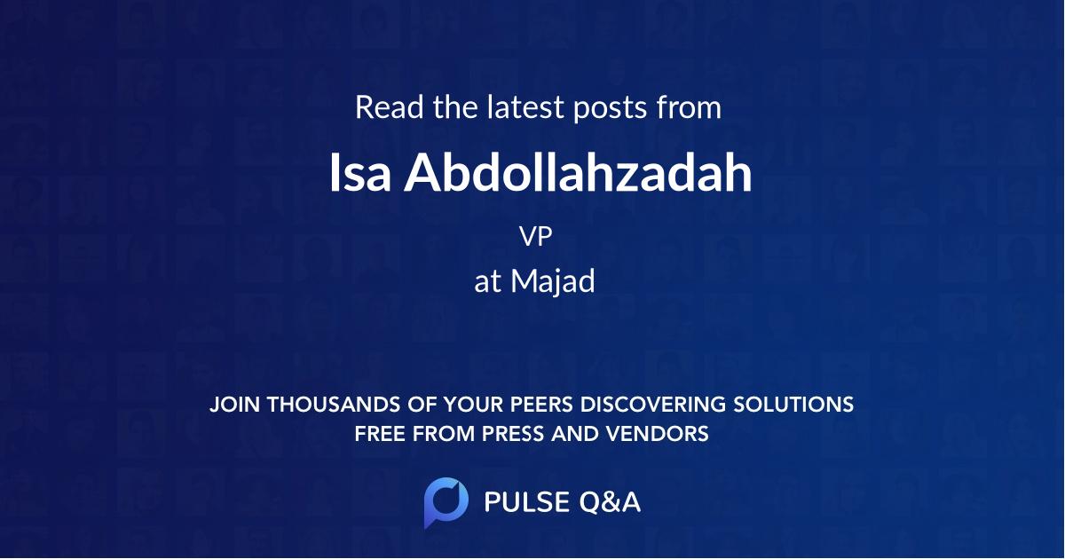 Isa Abdollahzadah