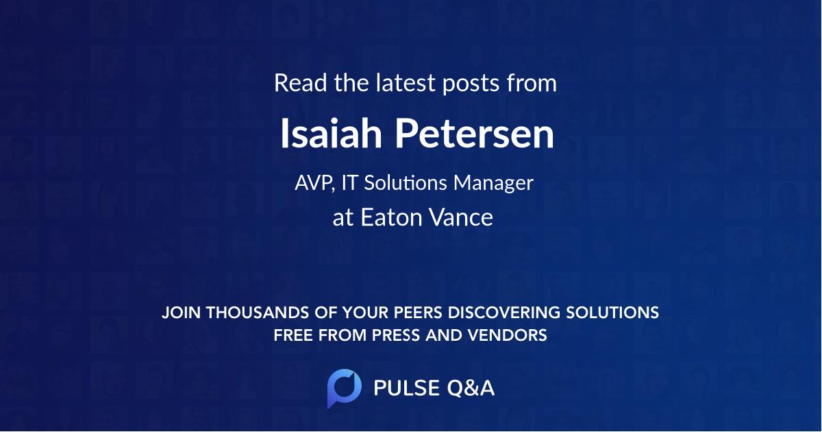Isaiah Petersen