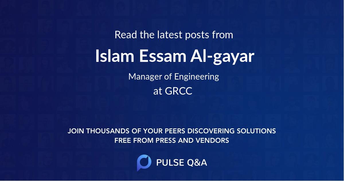 Islam Essam Al-gayar