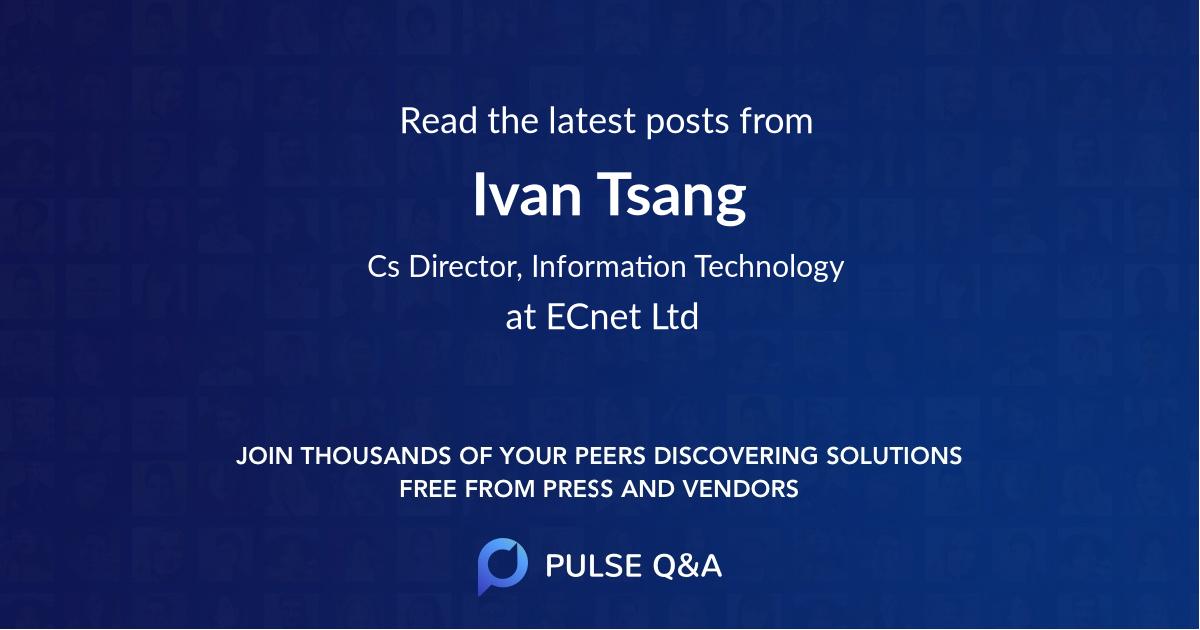 Ivan Tsang