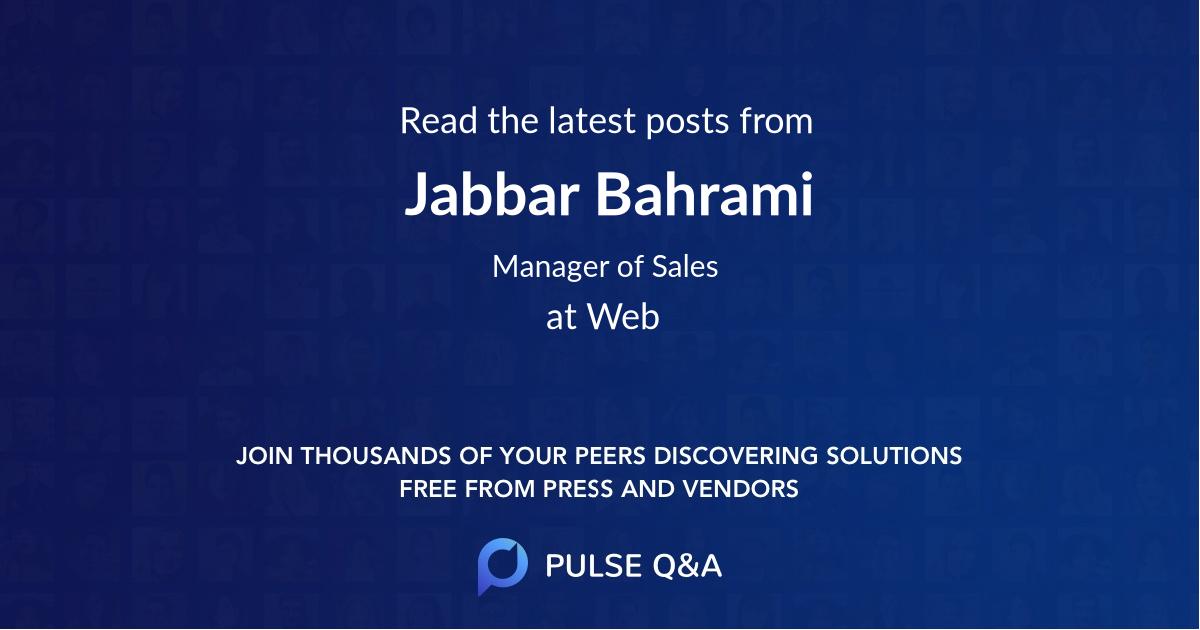 Jabbar Bahrami