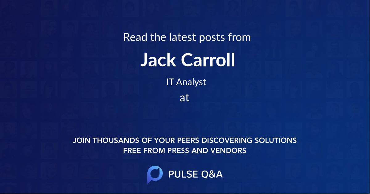 Jack Carroll