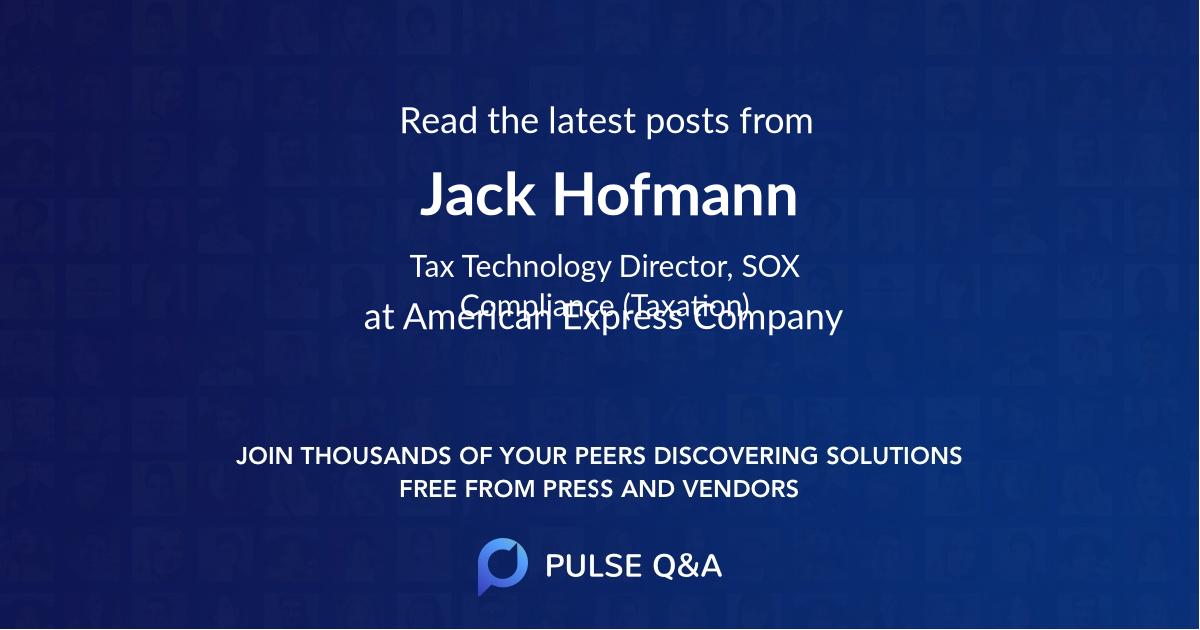 Jack Hofmann