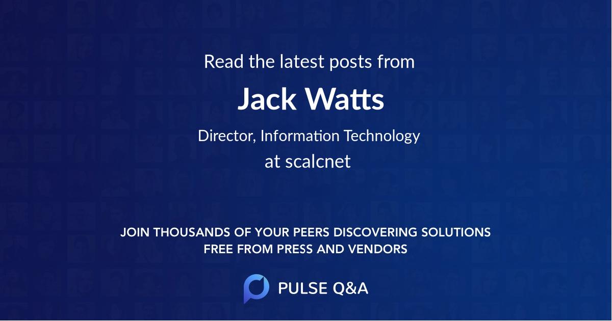 Jack Watts