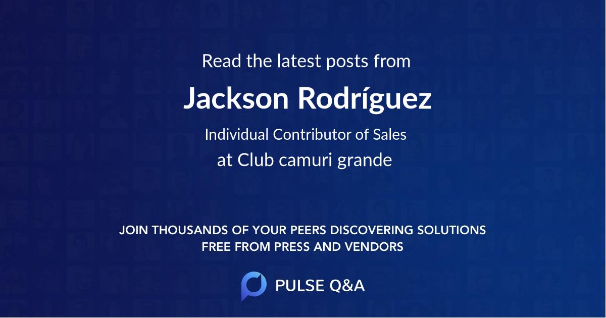 Jackson Rodríguez