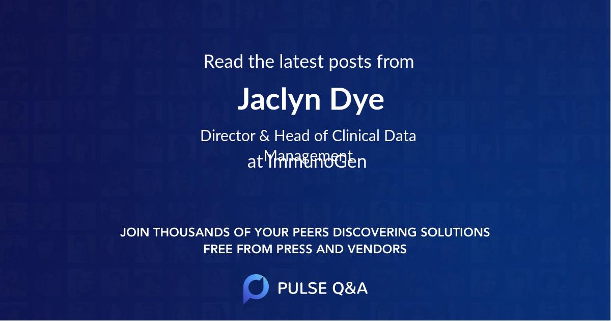 Jaclyn Dye