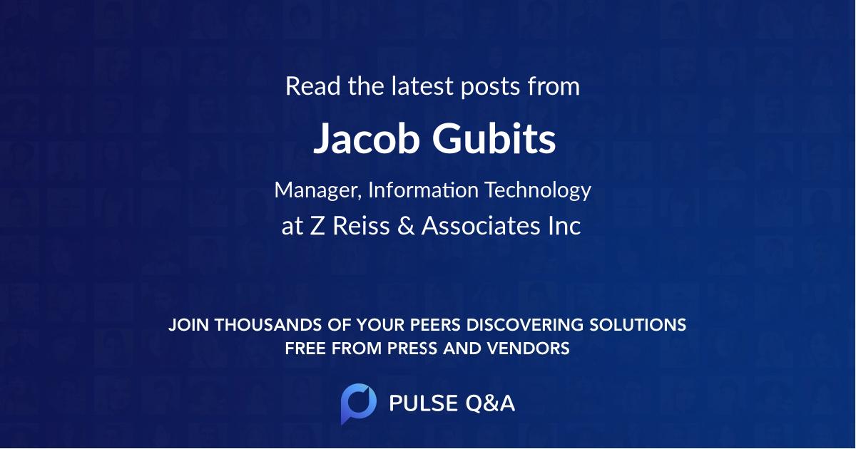 Jacob Gubits