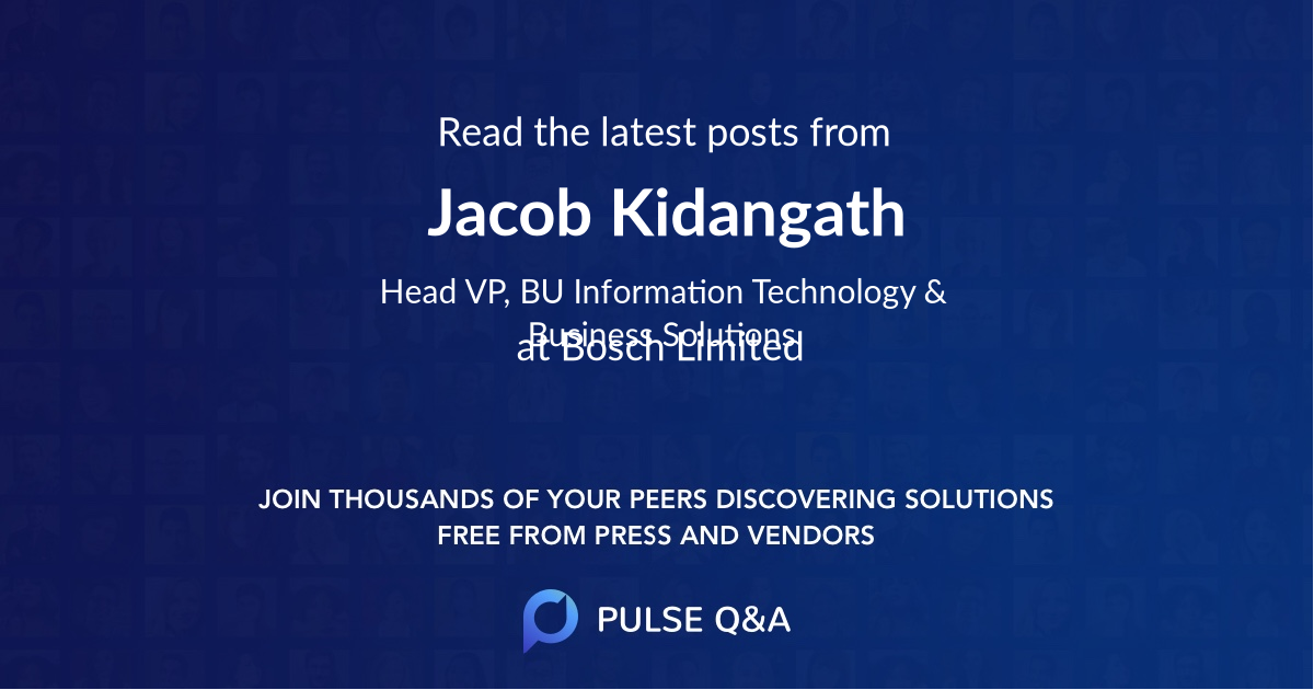Jacob Kidangath