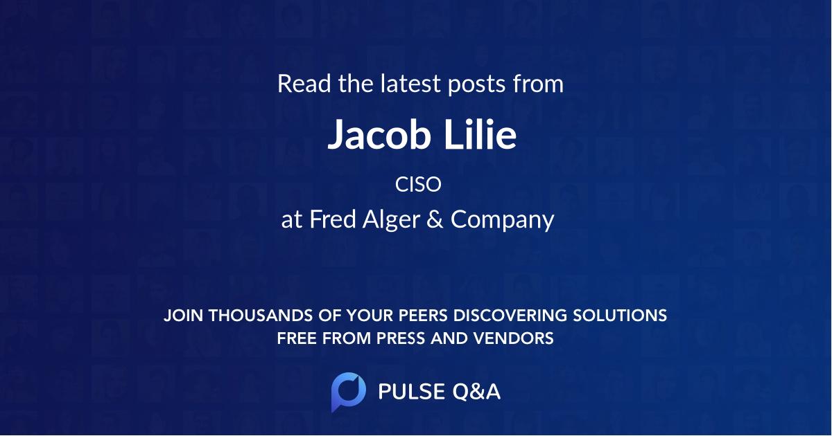 Jacob Lilie
