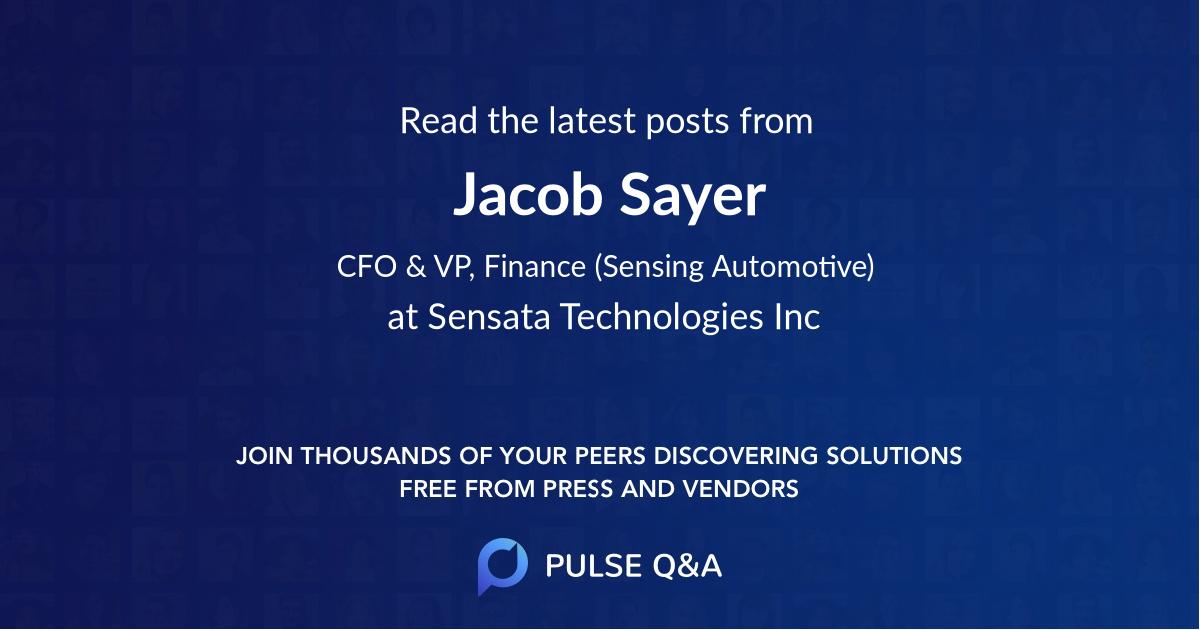 Jacob Sayer