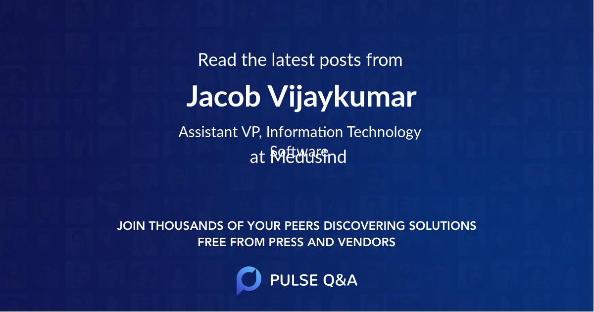 Jacob Vijaykumar