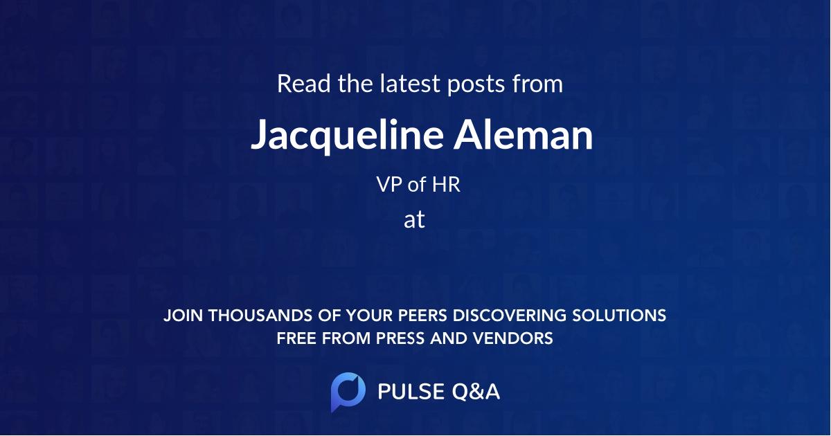 Jacqueline Aleman