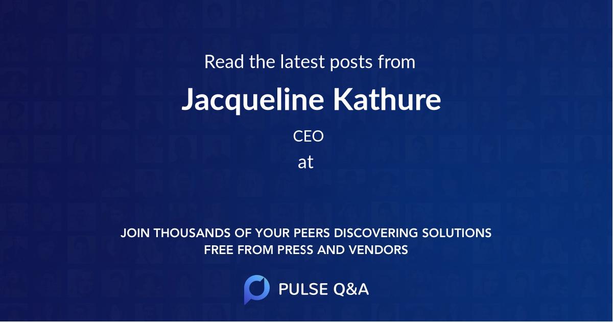 Jacqueline Kathure