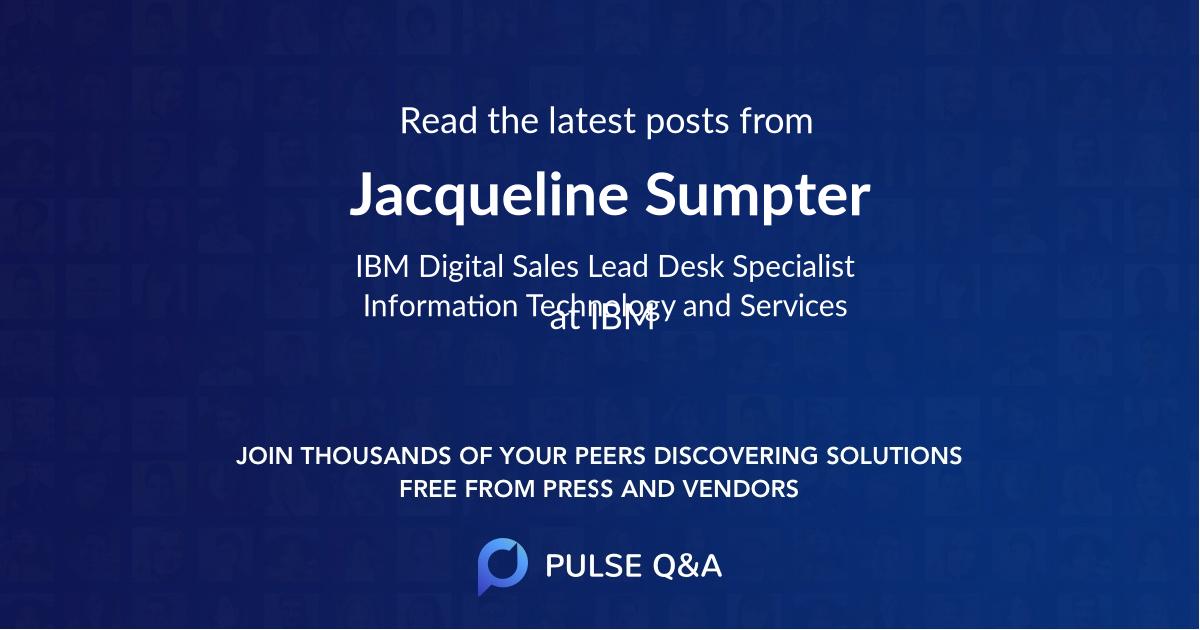 Jacqueline Sumpter