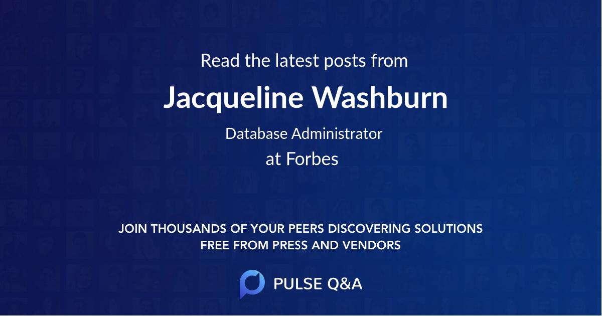 Jacqueline Washburn