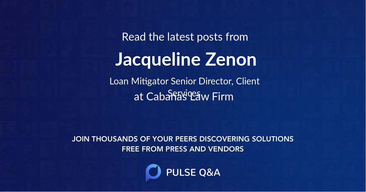 Jacqueline Zenon