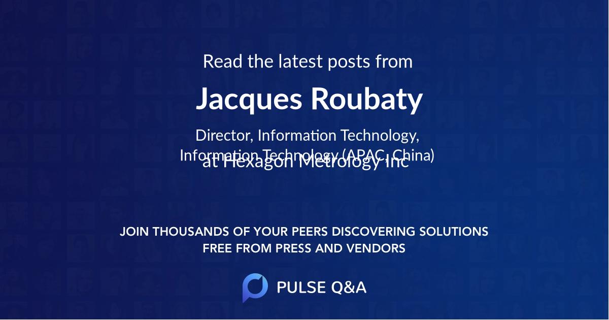 Jacques Roubaty