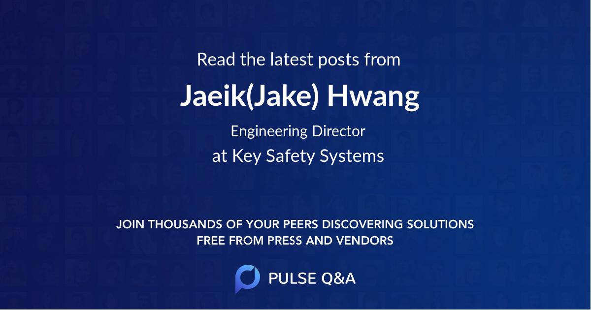 Jaeik(Jake) Hwang