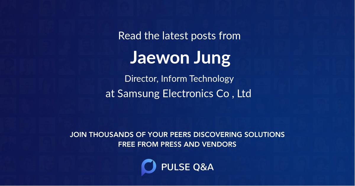 Jaewon Jung
